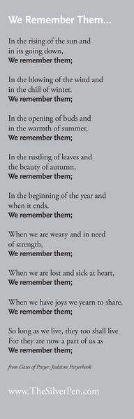 We remember them...