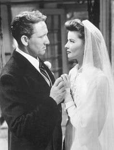 """Katharine Hepburn with Spencer Tracy in """"Woman of the Year"""" (1942)"""
