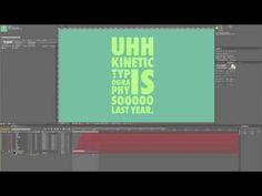 Kinetic Typography Tutorial - YouTube