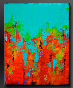 Carousel 17  24 x 30  Abstract Acrylic Painting  Fine Art
