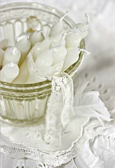 candles and lace #whited
