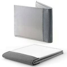 """Stewart/Stand Woven Stainless Steel Wallet: """"The high-tech threads that make up the cloth used in this wallet are 3 times thinner than a sheet of paper, have RFID blocking, are durable, resistant to corrosive materials and have a silky smooth feel to them. All this and the wallet won't demagnetize your credit cards."""""""