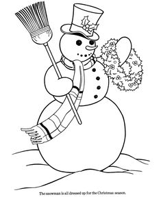 Snowman Pictures To Print