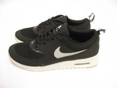 NIKE WOMENS AIR MAX THEA BLACK-WOLF GREY-ANTHRACITE 599409-007 #Nike #Sneakers