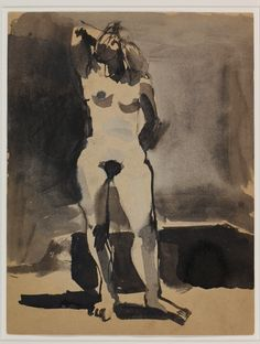 Elmer Bischoff, Untitled (Female Nude with Right Arm Behind Head)