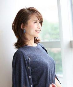 Medium Hair Styles, Short Hair Styles, Sexy Hips, Asian Hair, Shoulder Length Hair, Beautiful Asian Girls, Older Women, Asian Woman, Hair Cuts