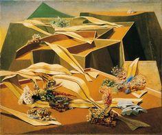 Max Ernst (1891–1976), Jardin gobe avions / Garden Airplane Trap, 1935–36. oil on canvas, 54 x 64.7 cm