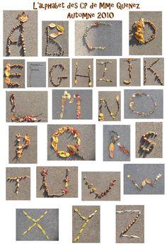Forest School Activities, Craft Activities, Nature Activities, Alphabet Art, Letter Art, Land Art, 3 Gif, Ecole Art, Cool Art Projects