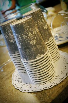 Lace Doilies to accent a southern bridal shower