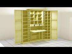 En este video vamos a construir un mueble multifuncional o espacio de trabajo, el cual podremos modificar dependiendo de cuál sea nuestra necesidad. Espero q... Craft Room Storage, Room Organization, Multifunctional Furniture, Diy Furniture, Storage Cabinets, Tall Cabinet Storage, Artistic Room, Art Shed, Sewing Cabinet