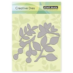 Have fun creating unique greeting cards for your friends and family with the Penny Black Creative Dies. You can use these creative dies on paper, fabric, chipboards and more. They are made of high-qua Online Craft Store, Craft Stores, Die Cutting, Paper Cutting, Fabric Crafts, Sewing Crafts, Penny Black Stamps, Black Leaves, Joann Fabrics