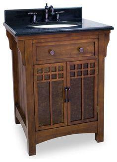 Lyn Design Westcott Wright Single Bathroom Vanity with Optional Mirror - traditional - bathroom vanities and sink consoles - Hayneedle Small Vanity, Small Bathroom Vanities, Bathroom Vanity Cabinets, Wood Vanity, Single Bathroom Vanity, Vanity Sink, Bath Vanities, Bathroom Furniture, Bathrooms