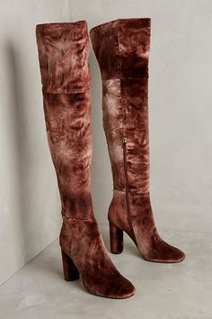 be576e4c2a Ombre Velvet Over-The-Knee Boots Sapatos Ousados
