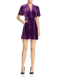 Sandro Suzan Embellished Velvet Mini Dress - 100% Exclusive   Bloomingdale's