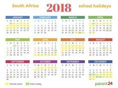 Printable: 2018 SA school holiday calendar | Parent24