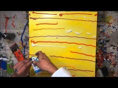 Tutorial Abstrakte Kunst (5) - Wir malen ein Bild - Acryl Spachtel-Technik - Painting Demo - YouTube