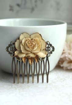 #Antique inspired hair comb