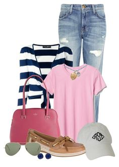 """""""Untitled #2364"""" by anfernee-131 ❤ liked on Polyvore featuring Current/Elliott, Dolce&Gabbana, Gap, Kate Spade, Sperry and Ray-Ban"""