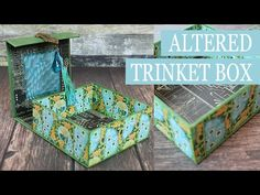 Trinkets Altered Box with Graphic 45 and Clearsnap - A Blog Hop ⋆ just jp #graphic45 #tutorials