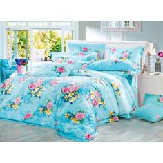 Bedding For Girls 3d Bedding, Cheap Bedding Sets, Cotton Bedding Sets, Luxury Bedding Sets, Comforter Sets, Dark Brown Bedrooms, Cheap Bed Linen, Colorful Bedding, White Headboard
