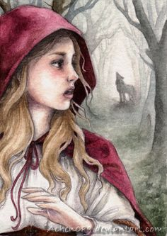ACEO:Red Riding Hood by ~Achen089 on deviantART