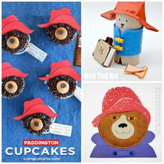 Wonderful ideas for Paddington Fans!! If you love Paddington Bear, you will love these great Paddington bear treats and crafts. Too cute!