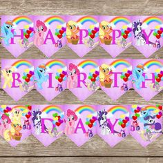 This is a My little pony birthday banner! This is a digital download that can be downloaded and printed instantly after purchase! These are jpg files