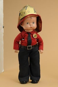 1930, Effanbee Skippy Doll with Fireman Suit