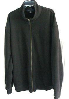 Tommy Hilfiger Men's Full Zip Sweater Jacket Soft lining Heavy Coat Size XXL 2XL #TommyHilfiger #FullZip