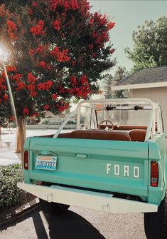 xoxo Great Tagged with aesthetic art car cute mint nature photography retro summer vintage Wallpapers Verdes, My Dream Car, Dream Cars, Jeep Camping, Car Goals, Cute Cars, Fancy Cars, Ford Bronco, Future Car
