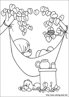 Precious Moments coloring picture ~Site has lots of others including Disney, Anastasia & other cartoons
