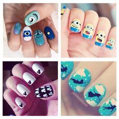 #DisneyNails São lindas, divertidas e quem não gostaria de ter seu desenho favorito estampado nas unhas? ♥