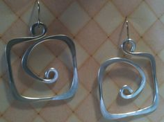 Aluminum Wire Jewelry Earrings Square Hoops Lightweight by leisab