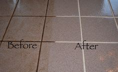 How to clean tile grout (Homemade Cleaner)
