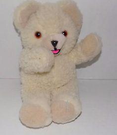 1985-10-034-LEVER-BROS-Russ-Berrie-Cream-Colored-SNUGGLE-Softener-PLUSH-Bear-SS