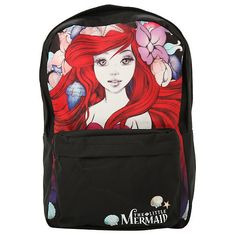 Disney The Little Mermaid Ariel Backpack Hot Topic ($30) ❤ liked on Polyvore featuring bags and backpacks
