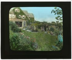 "Gray (later Grey) Gardens [taken in 1914] the Robert Carmer Hill House on Lily Pond Lane, made famous in the film ""Grey Gardens."""