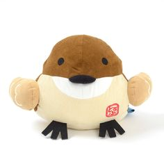 "This adorable Sparrow loves spending time with its Hannari Tofu friends, but give a little whistle and it might pop round to your place for some bird-tastic hugs! This seriously squishable cushion measures approximately 9.8"" x 9.1"" x 6.7"", perfect for a really good snuggle.  If this feathered friend has captured your heart, take a look at the Hannari Tofu Sparrow Mini Plushie too!  #tokyootakumode #plushie"