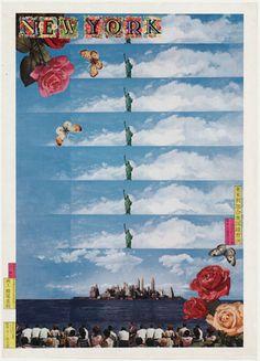 Tadanori Yokoo- New York, 1968; offset lithograph