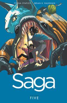 Saga, Volume 5 (Saga: Collected Editions #5) by Brian K. Vaughan, Fiona Staples (Illustrator)