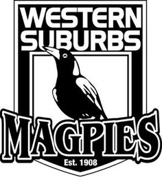 1908, Western Suburbs Magpies (NSWRL) New South Wales, Australia #WesternSuburbsMagpies #NSWRL #Australia (L17465)