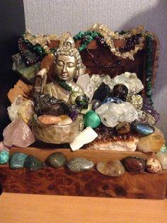 My crystal alter. #crystal #altar