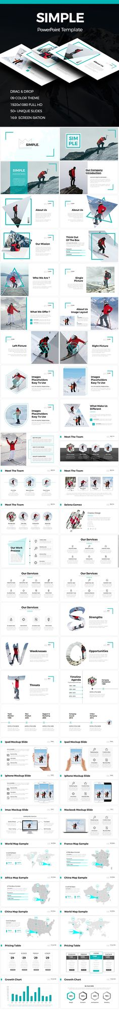 Simple  Clean Powerpoint Template — Powerpoint PPTX #swot analysis #1920x1080 • Download ➝ https://graphicriver.net/item/simple-clean-powerpoint-template/19033170?ref=pxcr