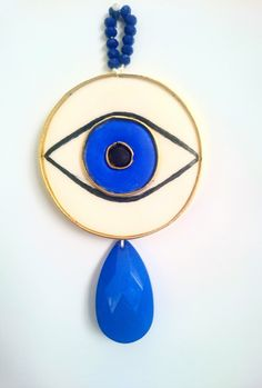 Contemporary Evil Eye Wall Decor, Evil Eye Ornament, Polymer Clay Evil Eye,  New Year's Lucky Charm, 2017 Lucky Charm, Greek Eye Protection by BeeJouJoux on Etsy
