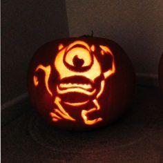 Monsters University Mike Wazowski Pumpkin Carving Template ...