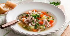 Traditional chicken soup is said to cure the common cold. This healthy recipe uses lots of different herbs and spices& The post Chicken Soup appeared first on FOOD WISHES. Healing Chicken Soup Recipe, Recipe Chicken, Chicken Katsu Recipes, Healthy Weeknight Meals, Weeknight Dinners, Cooking Recipes, Healthy Recipes, What's Cooking, Cooking Ideas