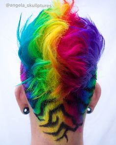 Men Hair Color, Pretty Hair Color, Shaved Hair Designs, Crazy Hair Days, Coloured Hair, Creative Hairstyles, Pretty Hairstyles, Hairstyle Men, Trending Hairstyles