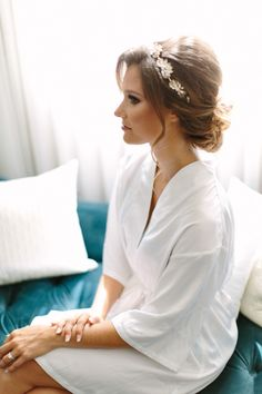 Elegant Santa Ana bride: http://www.stylemepretty.com/california-weddings/santa-ana/2015/10/09/elegant-traditional-wedding-at-the-estate-on-second/ | Photography: Kristina Adams - http://www.kristinaadamsphotography.com/