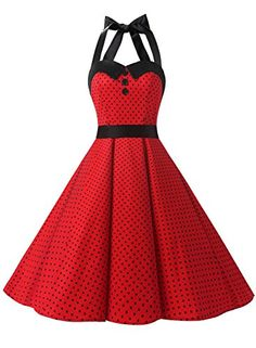Dressystar Vintage Polka Dot Retro Cocktail Prom Dresses Rockabilly Bandage Red B XS: Great for prom wedding bridesmaid birthday theme party, a rock n roll party, punk swing polka prom, lolita minnie mouse costume cosplay club wear psychbilly. Vintage Outfits, Vintage Red Dress, Retro Dress, Vintage Dresses, Vintage Prom, Vintage Fashion, Vestidos Rockabilly, Rockabilly Moda, Rockabilly Dresses