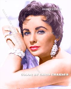 ELIZABETH TAYLOR TECHNICOLOR CONVERSION BY BEDAZZZLED FROM B/W